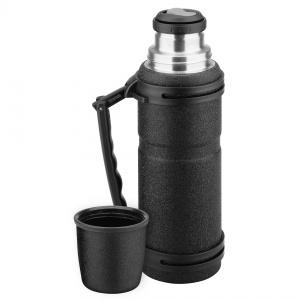 Isosteel thermosfles RVS Stealth 1,2 liter zwart TWM Tom