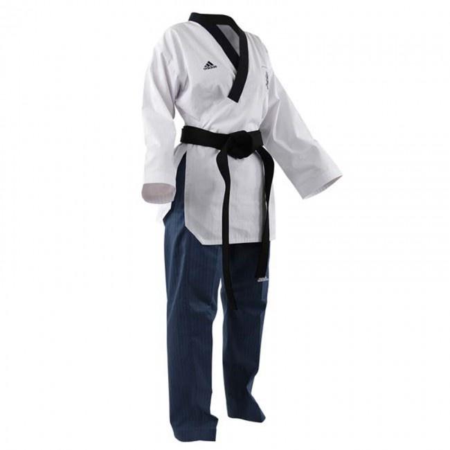 Taekwondo Damen Poomsae blau adidas weiß Tom TWM H9WDE2YI
