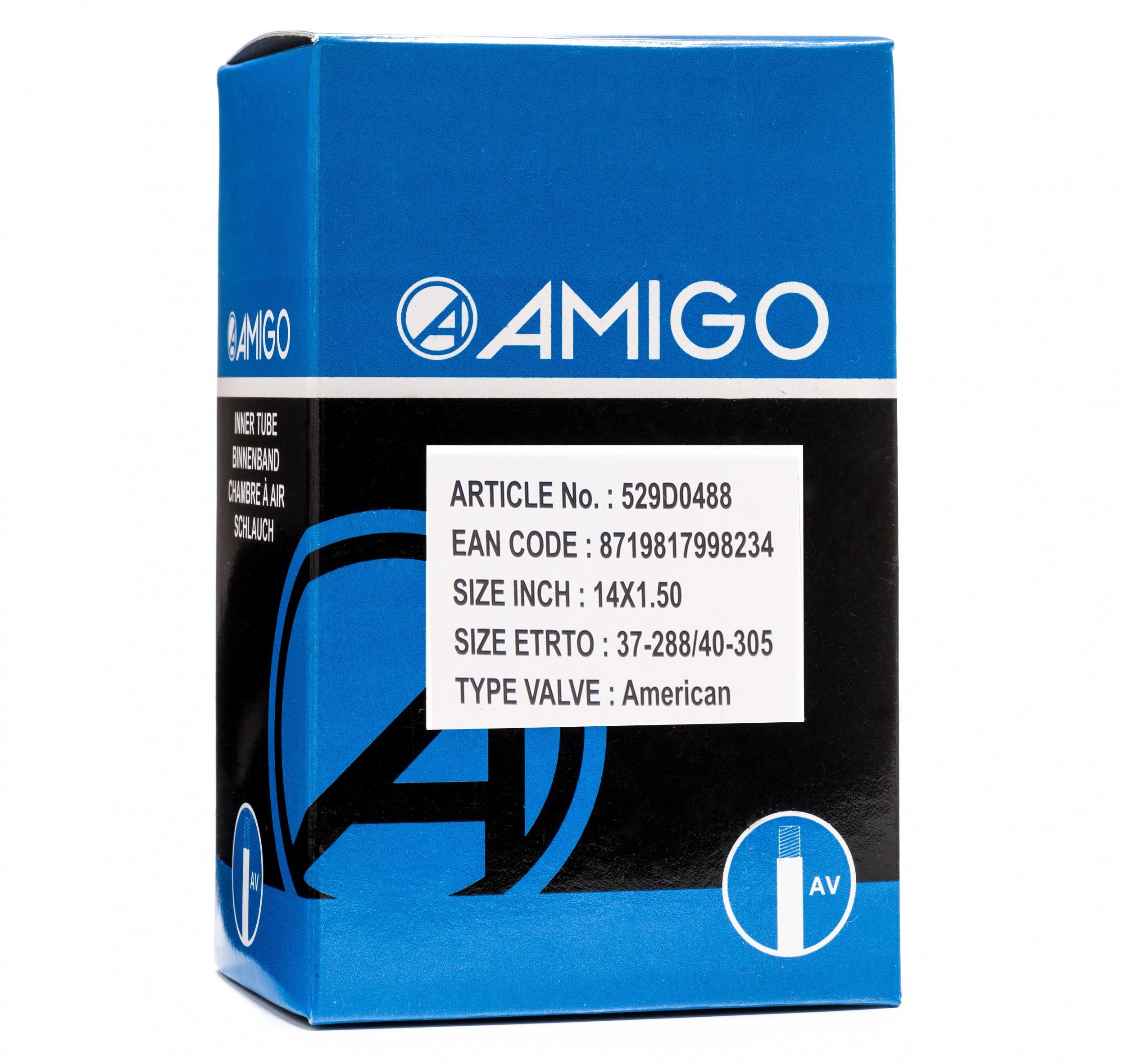AV 48 mm AMIGO 37//40-288//305 Schlauch 14 x 1,50