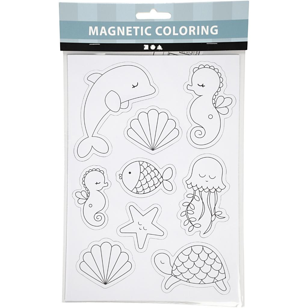 creotime magnetische farbseiten meerestiere 15 x 21 cm