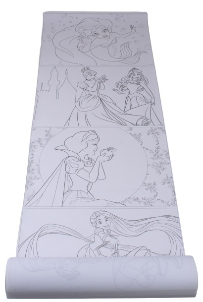 disney kleurplaat rol princess junior 5 meter papier 2