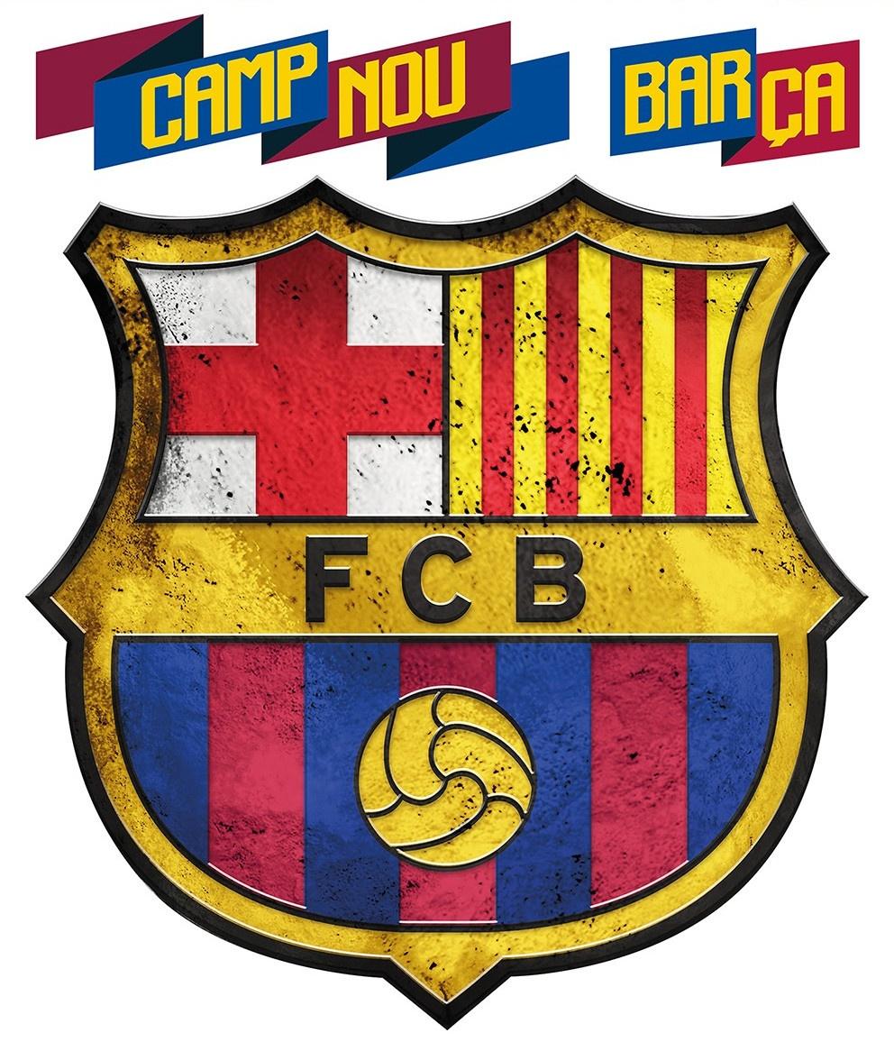 FC Barcelona muursticker logo 3 stuks - TWM Tom Wholesale ...