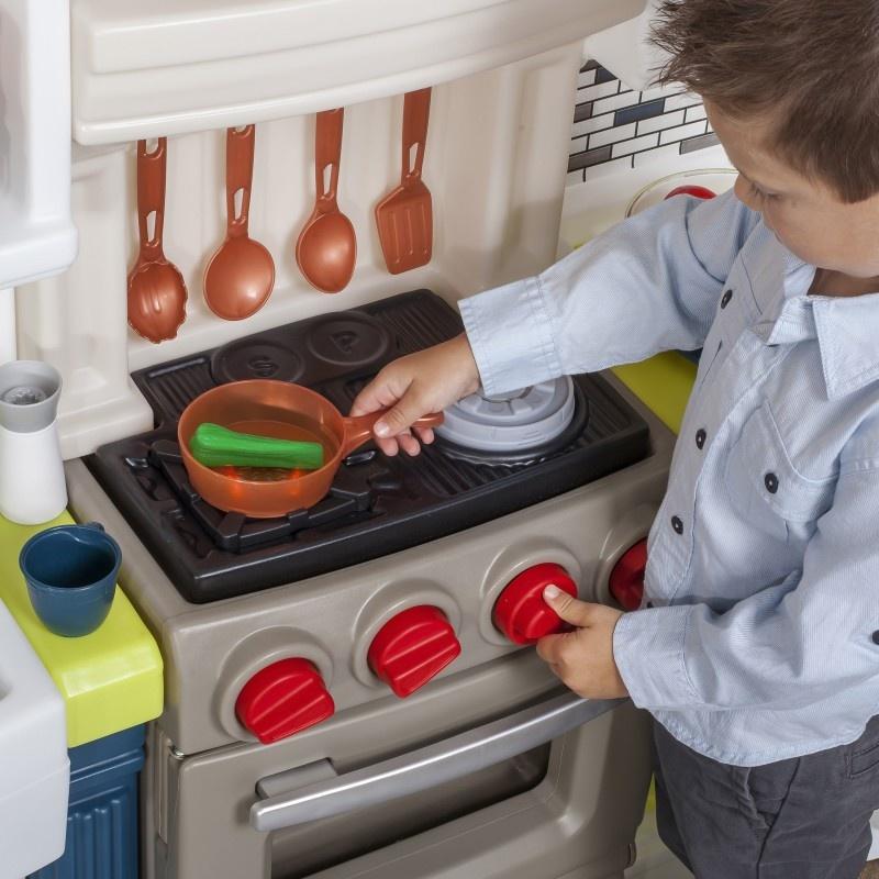 Step2 Play Kitchen Elegant Edge Kitchen 167 Cm 78 Piece Twm Tom Wholesale Management