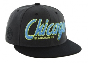47 Brand Chicago Blackhawks pet donkergrijs one size
