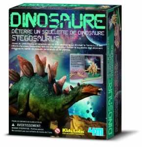 4M Kidzlabs: DIG-Je-Dinosaur-On French Stegosaurus
