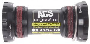 ACS bottom bracket Crossfire BSA 73 x 68 mm zwart