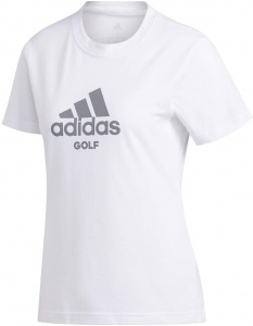 adidas golf t-shirt dames katoen/polyester wit