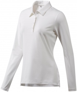 adidas golfpolo Ultimate LS P dames wit