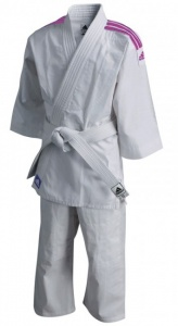 adidas judopak 200 Evolution junior wit/roze