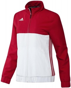 adidas T16 jack dames rood/wit