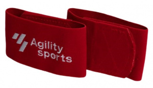 Agility Sports sokophouders rubber/spandex/nylon rood/wit