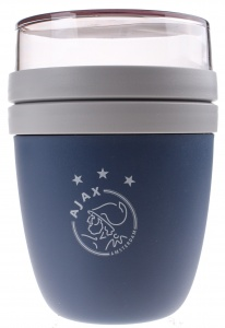 Ajax lunchpot donkerblauw 500/200 ml