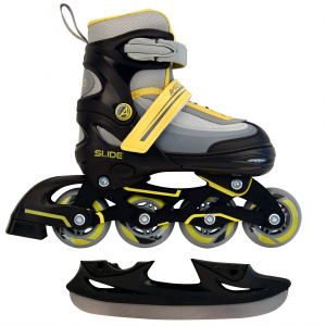 AMIGO skates 2-in-1 Slide junior polypropyleen zwart/geel