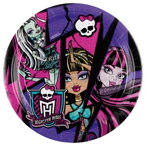 Amscan bordjes Monster High multicolor 23 cm