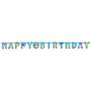 Pinkfong letterslinger Baby Shark happy birthday papier 100 cm
