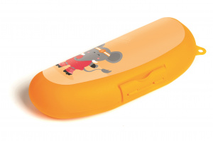 Amuse banaanbox Animal Sports junior 24 cm oranje