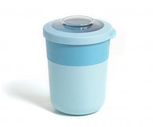 Amuse lunchpot 10,5 x 14,2 cm blauw 3-delig