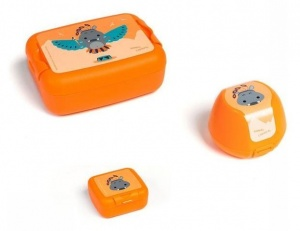 Amuse lunchset Animal Carnival junior oranje 3-delig