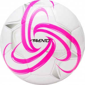 Avento Voetbal Glossy PVC Fluor Maat 5 Wit / Roze