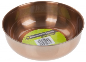 Summit schaal Copper Finish RVS/koper 15 cm