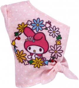 Barbie Hello Kitty tienerpop off-shoulder top roze