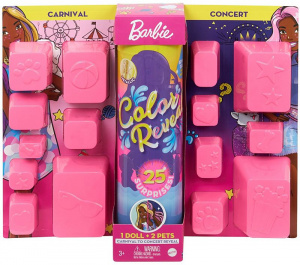 Barbie tienerpop Color Reveal Carnival/Concert meisjes 17-delig