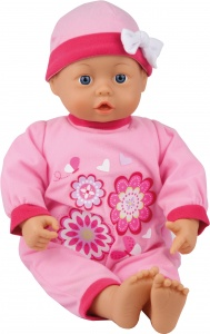 Bayer babypop First Words roze 46 cm