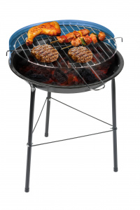 BBQ Collection barbecue 43 cm staal zwart/blauw