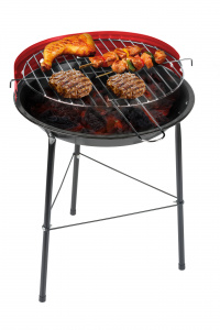 BBQ Collection barbecue 43 cm staal zwart/rood