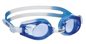 Beco zwembril Rimini polycarbonaat junior blauw/wit