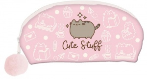 Blueprint Collections Pusheen etui met pompom roze 12 x 21 cm