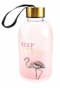 Blueprint Collections waterfles Yvonne Ellen flamingo 650 ml