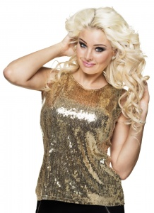 Boland St. Top Sequins goud