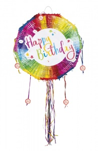 Boland trekpiñata happy birthday multicolor 44 x 44 cm
