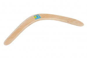 BS Toys boomerang hout 39,5 cm blank