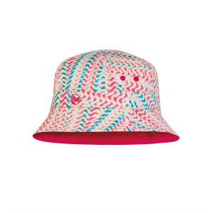Buff bucket hat junior polyester rood one size