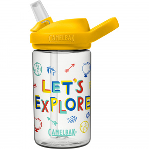 CamelBak drinkfles Eddy+ Kids Let's Explore 400 ml tritan geel