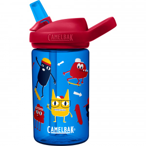CamelBak drinkfles Eddy+ Kids Skate Monsters 400 ml tritan blauw