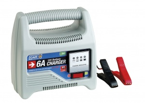 Car Plus acculader 12 Volt 6 A grijs
