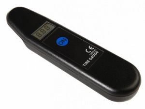 Car Plus digitale bandenspaningmeter zwart 14 cm