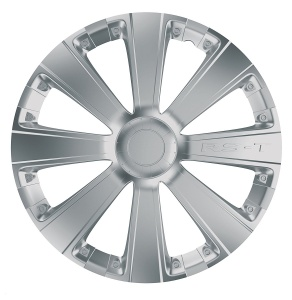 Car Plus wieldoppen RST 14 inch ABS zilver set van 4
