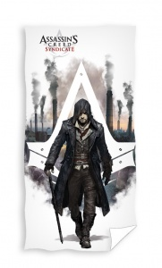Carbotex badlaken Assasin's Creed junior wit 70 x 140 cm