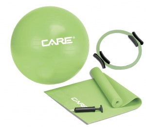 Care Fitness pilatesset 4-delig groen