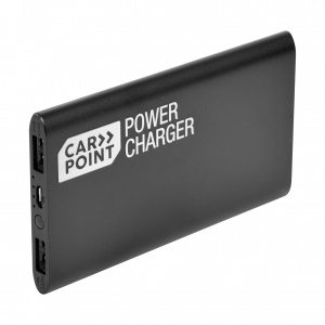 Carpoint Portable powerbank ultra slim 4000mah zwart