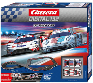 Carrera racebaanset Digital 132 GT Face Off 8,0 meter zwart