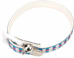 Cats Collection kattenhalsband 30 cm blauw/roze/wit