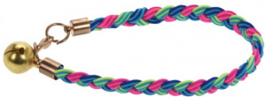 Cats Collection kattenhalsband elastisch nylon blauw/roze/groen