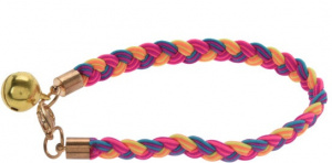 Cats Collection kattenhalsband elastisch nylon geel/roze/paars