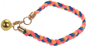 Cats Collection kattenhalsband elastisch nylon roze/blauw/geel