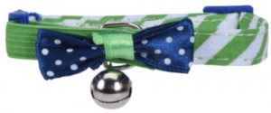 Cats Collection kattenhalsband met belletje 31 cm nylon groen
